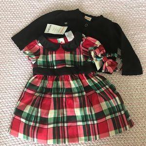 NWT Gymboree Christmas dress set size 0-3m